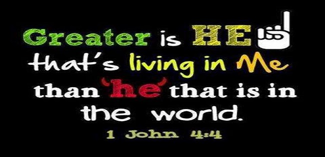 Image result for greater is he that is in you than he that is in the world